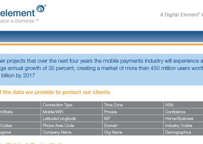 Digital Element Fraud Security Sheet