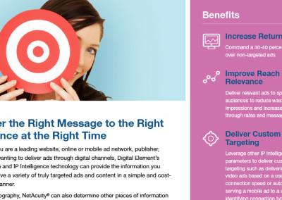 Digital Element Online Advertising Sheet
