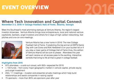 Venture Atlanta Event Overview