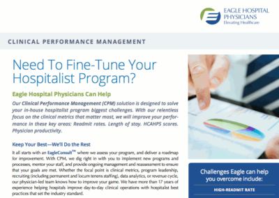 Eagle Hospital Physicians – Clinical Performance Management