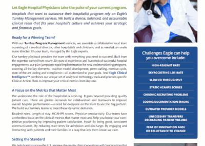 Eagle Hospital Physicians – Turnkey Program Management