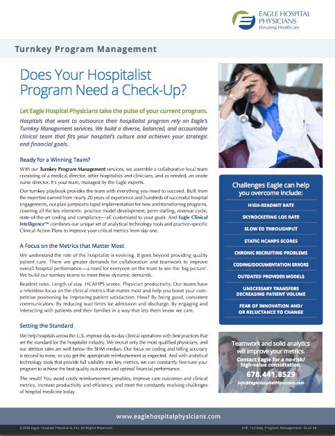Eagle Hospital Physicians - Turnkey Program Management